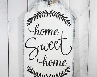 Home Sweet Home/Tag Sign/Rustic/Wood Sign/Sale Tag