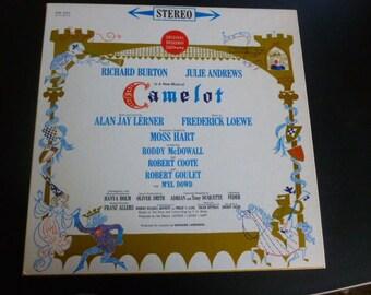 Camelot Original Broadway Cast Richard Burton Julie Andrews Vinyl Record KOS 2031 Columbia Masterworks 1960