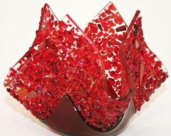Glassworks Northwest - Votive Love - Fused Glass Candleholder