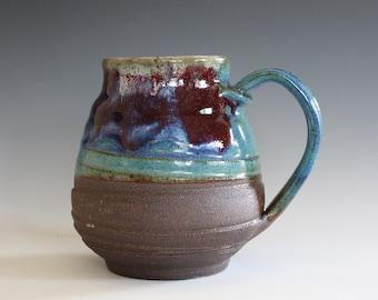 EXTRA LARGE Coffee Mug, 23 oz, handthrown ceramic mug, stoneware pottery mug, unique coffee mug