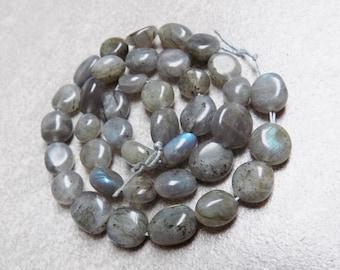 Labradorite nugget beads