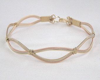tricolor bracelet wire wrap metal