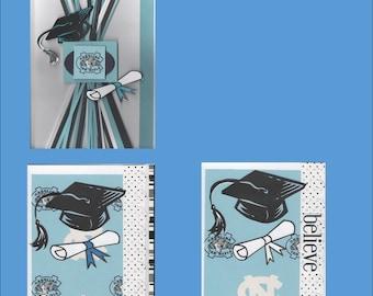 Livraison gratuite NorthCarolina Tarheels Graduation cartes - cartes de voeux NC - fait à la main aux Etats-Unis