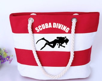 SCUBA Diving Canvas Tote