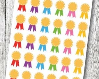 Award Ribbon Planner Stickers