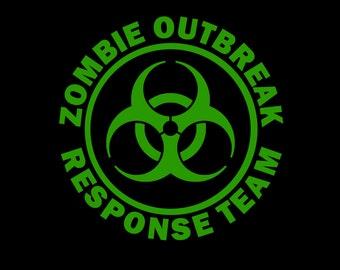 "Vinyl Car Decal - ""Zombie Outbreak Response Team"""