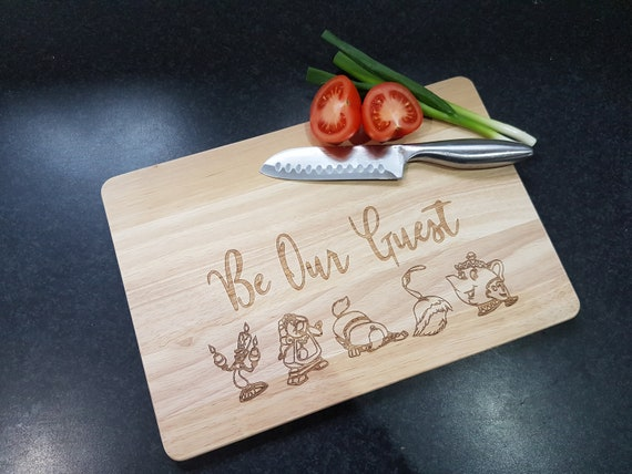 Beauty And The Beast, Be Our Guest Chopping Board by Etsy