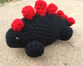 Stegosaurus amigurumi plush plushie crochet stuffed animal toy chibi
