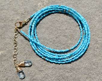 Turquoise Wrap Bracelet, Turquoise Wrap Necklace, Arizona Turquoise Jewelry, Turquoise Bracelet, Real Arizona Turquoise, Turquoise Necklace