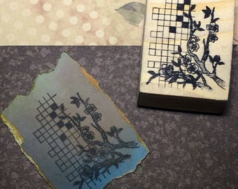 Flora II - F7 Wood Mounted Rubber Stamp