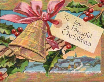 VINTAGE LOT of Christmas Post Cards, 6, collected by junqueTrunque