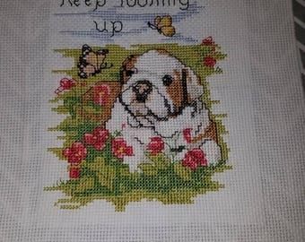 Keep Looking Up cross stitch