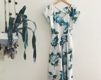 80s Carol Anderson Floral Dress