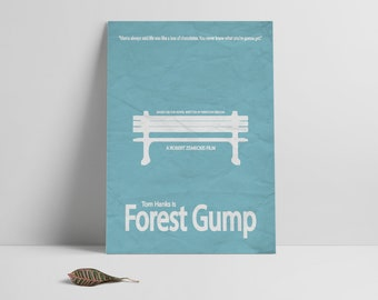 Forest Gump poster print,Forest Gump-the movie printable poster,Alternative film poster,Minimalistic movie art,Instant Download,Printables