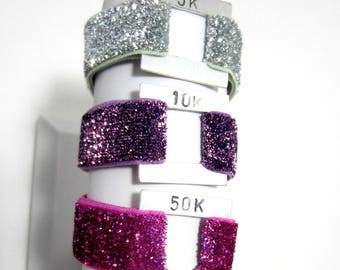 Run Bracelet, Running Inspiration, Elastic Bracelet, Distance Bracelet, Unisex Bracelet, Sport Bracelet, 5k, 10k, Half-Marathon, Marathon