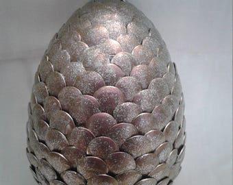 Silver shimmer Dragon Egg