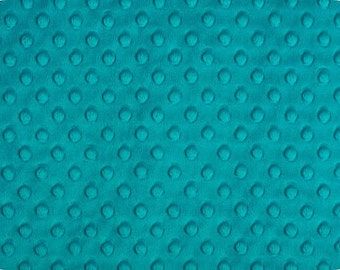 Teal Cuddle Dimple Dot Minky by Shannon Fabrics - 1 yard