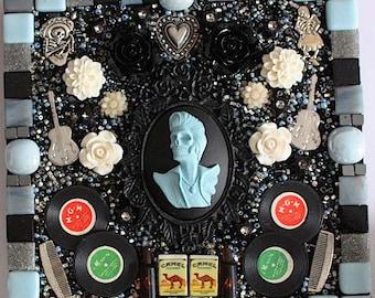 Rock and Roll, Mosaic, Day of the Dead, Dia de los Muertos, Rock Musician, Rockabilly, Guitar, D-23