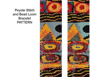 Bracelet Pattern for Bead Loom or Single Peyote Stitch - PP142