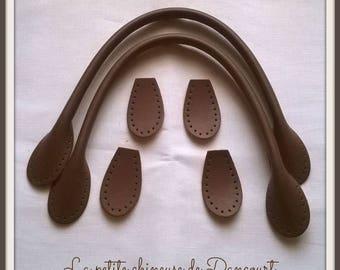 41cm brown bag handles