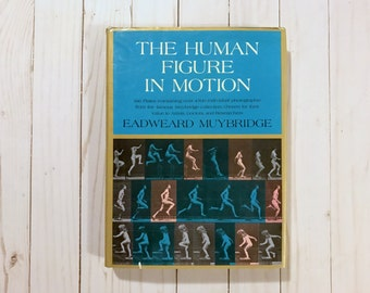 Human Figure In Motion - Muybridge Collection - Eadweard Muybridge - Vintage Book - Vintage Drawing Book - Old Book -  1955 - Figure Drawing