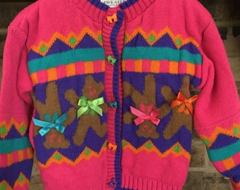 Jet Set Sweaters Girl Bow Sweater