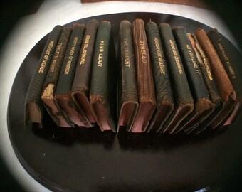 Antique Miniature Shakespeare Books - lot of 13