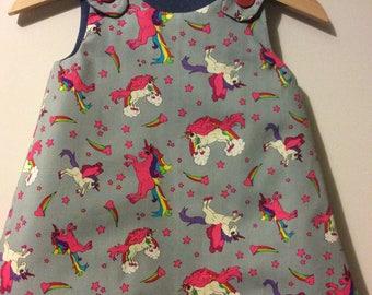 Reversible pinafore dress