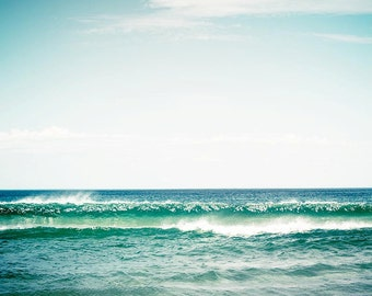 ocean photography nautical decor beach photography seaside landscape 8x10 8x12 fine art photography sea blue teal wall art waves photography