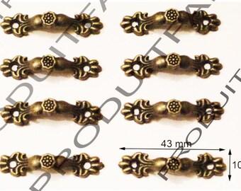Lot 8 Mini handles drawer furniture Dresser sideboard woodworking business right Bronze MM53x11 43 * 10 mm