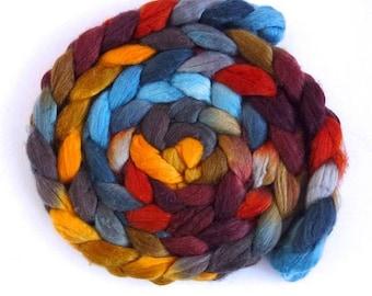 Ascent, Merino/ Superwash Merino/ Silk Roving - Handpainted Spinning or Felting Fiber
