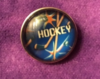 Hockey Snap for all the Hockey Fans - Fits 18mm & 20mm Snap Jewelry