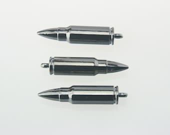 5 pcs.Zinc Gunmetal Ammunition M16 Bullet Decorations Findings 8x36 mm. Bul Gun 836 3 CHM SP