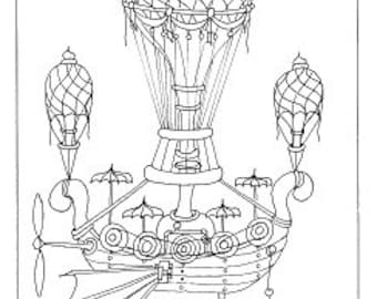 Set of 5 Colouring Pages : Advances in flight technology