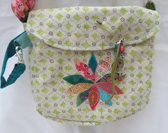 Beach treasure gathering bag, handmade