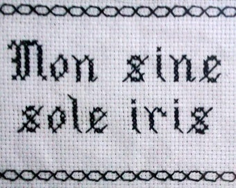 Proverb embroidery
