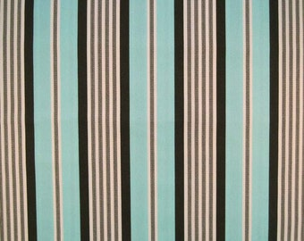 Sale Michael Miller Banded TICKING STRIPE Aqua Quilt Fabric by the Yard