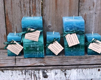 Yacht Salt Scented Square Pillar Candles