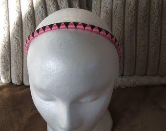 Alice band/ headband light pink/black