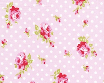 Tanya Whelan Fabric /  DELILAH / Buds in PINK - 1 Yard Quilt Fabric