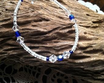 September Sapphire Dainty Baby Birthstone Bracelet