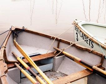 Fine Art Photograph - Rowing Boats - Pick your print size - Unique Decoration - Beach House - Sailing Theme