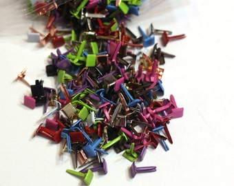 Square Paper Brads for Scrapbooking - 5mm head - variety pack - 50 pieces - Scrapbooking Embellishments
