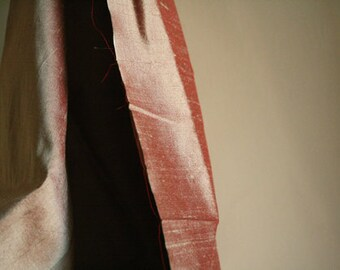 SILK FABRIC / salmon pink / pure silk