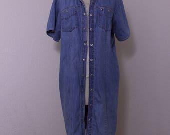 Vintage Tommy Hilfiger Denim Shirt Dress