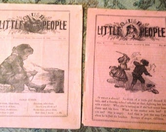Our little people this is small pamphlet  from 1886 from Sunday school .