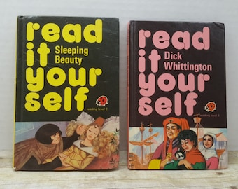 Read It Yourself, Ladybird books, set of 2, 1978, vintage kids books
