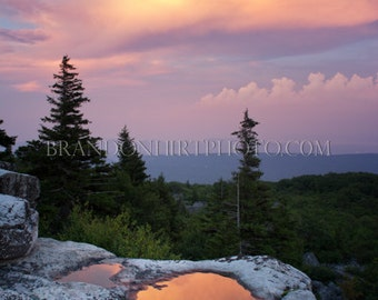 Dolly Sods West Virginia Sunset Landscape Photography Fine Art Sunset Home Decor Bear Rocks