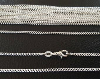 Set for professional 10 thin chains in Silver 925 + 10 certificates of authenticity