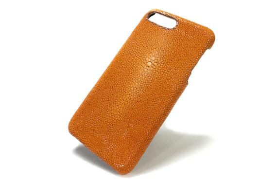"""STINGRAY Galuchat Apple iPhone Genuine Stingray Galuchat Leather Case for New iPhone X 8 7  4.7"""" o New iPhone 7 Plus 5.5"""" 6 4.7"""" & Plus 5.5"""""""